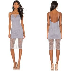 H:ours Florence Midi Dress Lilac Grey